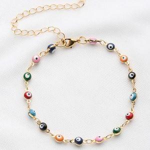 Jewelry - Color Evil Eye Bracelet w/ Lobster Clasp